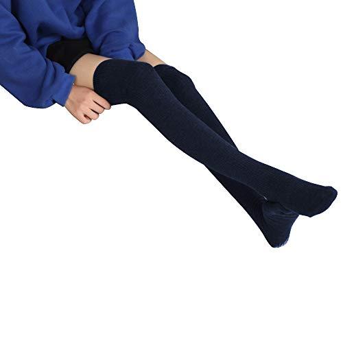 1f4f78b2e1d Women Tight High Winter Socks Girls Crochet Long Leg Warmers Over the Knee  for Boots (