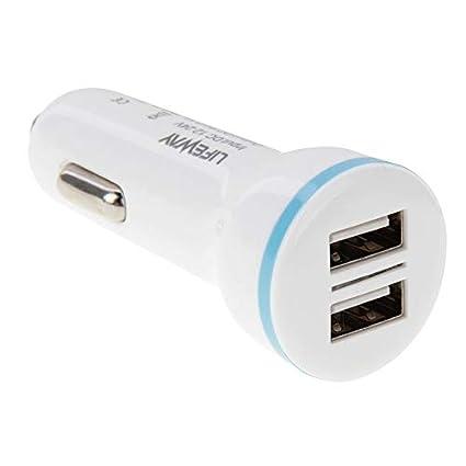 Eficiente Cargador universal de coche 5V 2.1A 2 puertos USB ...