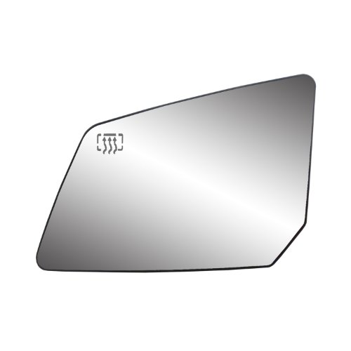 Fit System 33223 GMC/Saturn Left Side Heated Power Replacement Mirror Glass with Backing Plate ()