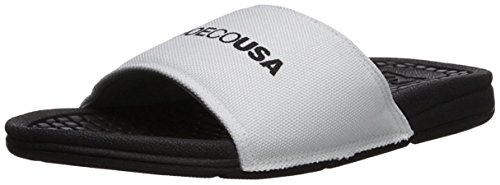 DC Bolsa Womens SP Slide Sandal, White/Black, 8 B - Dc Shoes Athletic Sandals