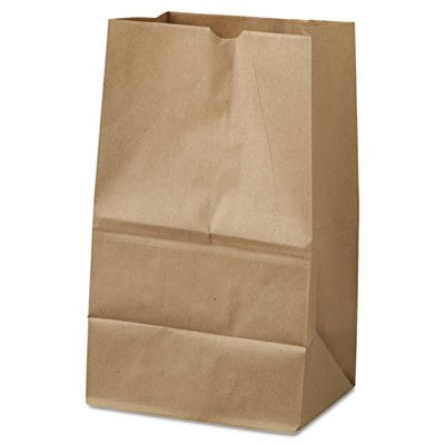 Duro ID# 18421 20# Short SOS Bag 40# 100% Recycled Natural Kraft, 500 Piece by Duro