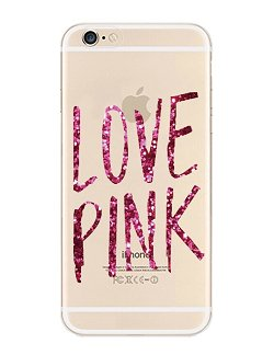 iPhone 6 Case, DECO FAIRY® Protective Case Bumper[Scratch-Resistant] [Perfect Fit] Ultra Slim Translucent Silicone Clear Case Gel Cover for Apple iPhone 6 (love pink clear) (Case Victoria)