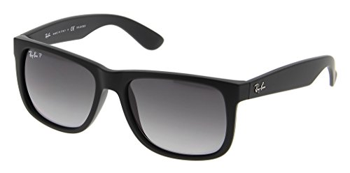 Ray Ban RB4165 622/T3 55 Black Rubber/Polarized Gray Gradient Bundle-2 - Ray Justin Gradient Ban
