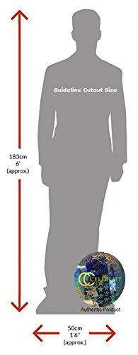 Cardboard Cutout mini size Red Jumper Standee. Hero Fiennes Tiffin