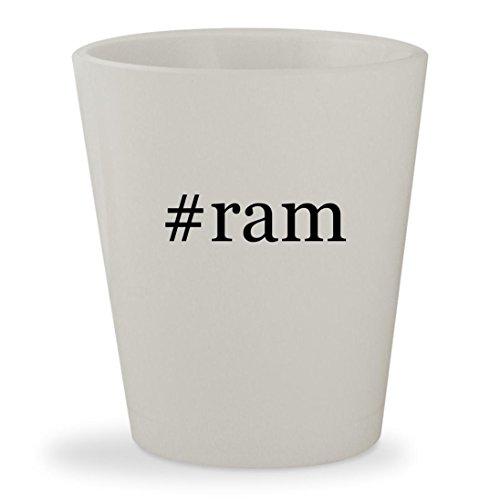 Price comparison product image #ram - White Hashtag Ceramic 1.5oz Shot Glass