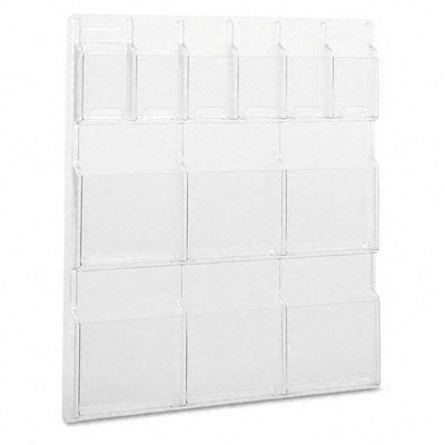 (SAFCO PRODUCTS / SAF5606CL / Combination Magazine/Pamphlet Display Rack, 12 Pockets, 30w x 2d x 34-3/4h / Sold as 1 EA)