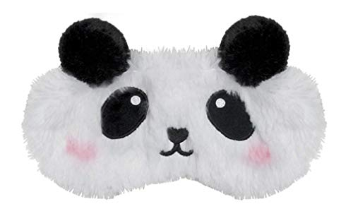 iscream Fun and Colorful Satin-Lined Embroidered Fur Sweet Panda Sleep Mask for Girls -