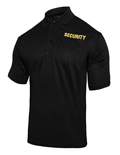 (Rothco Moisture Wicking Security Polo Shirt (2X-Large) Black)