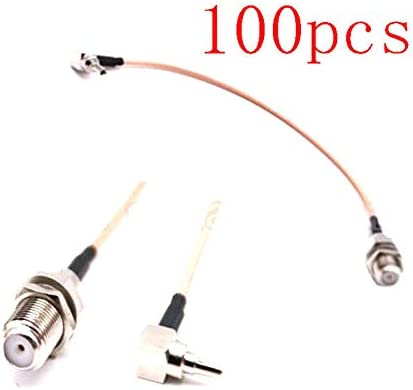 100pcs F to CRC9 Cable F Female to CRC9 Right Angle RG316 Pigtail Cable 15cm for Huawei 3G//4G USB Modemping