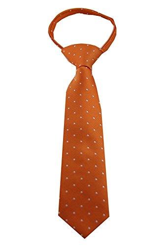 Imani Uomo Pattern Boy's Zipper Tie Small - (Mandarin Stripe Tie)