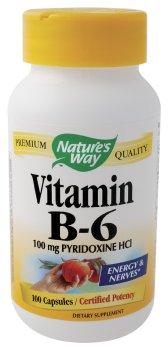 Nature Way - Vitamine B6, 100 mg,