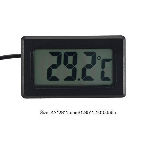 Mini Digital LCD Indoor Digital Thermometer Gauge Electronic Temp Meter Tester with Temperature Sensor-Black