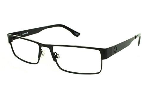 Spy Elijah Rectangular Eyeglasses,Matte Black,55 mm by Spy
