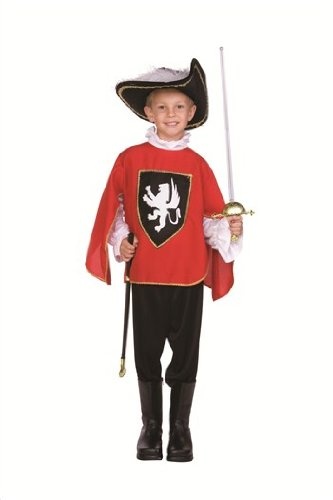 RG Costumes Musketeer Boy Costume, Large, Red