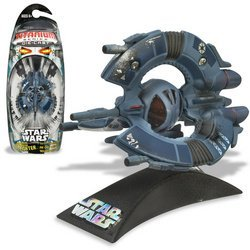 - Star Wars Die-Cast Metal TITANIUM Series DROID TRI-FIGHTER Vehicle