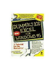 Dummies 101: Excel for Windows 95