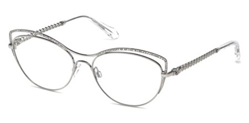 Roberto Cavalli Glasses - ROBERTO CAVALLI Eyeglasses RC5041 CRESPINA 016 Shiny Palladium