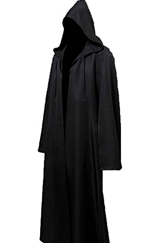 H&ZY Unisex Tunic Halloween Robe Hooded Cloak Costume Black - http://coolthings.us