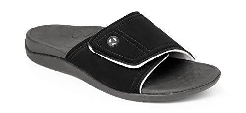 Orthaheel Men's / Women's Kiwi Slide Sandals (Men 7 & Women 8/Black & Grey)