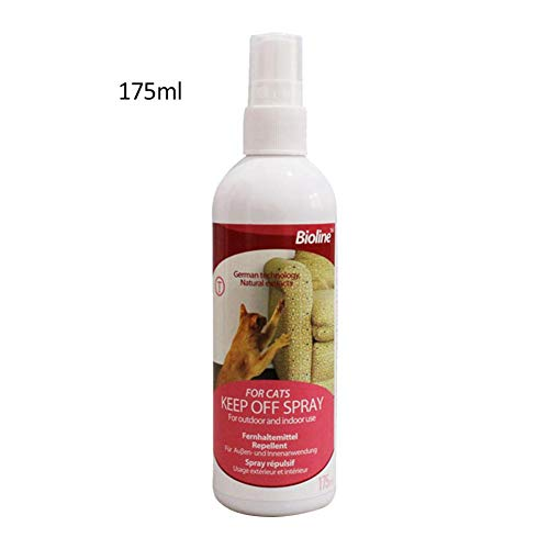 Bestmemories Cat Scratch Deterrent Spray Natural No Stimulation to Effectively Stop Cats from Scratching Furniture Anti-bite Spray 175ml