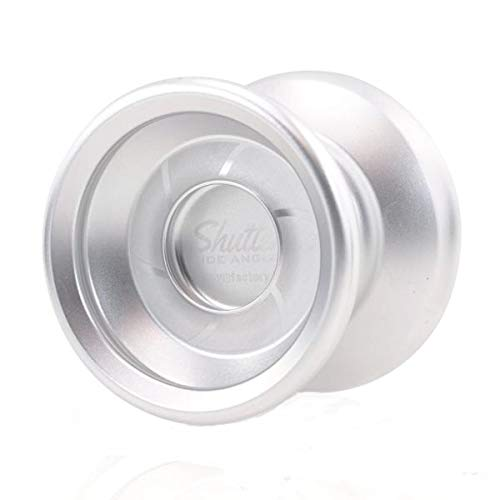 YoYoFactory Wide Angle Shutter Yo-Yo Blasted Aluminum Finish (Silver) (Shutter Yoyo Yoyofactory)