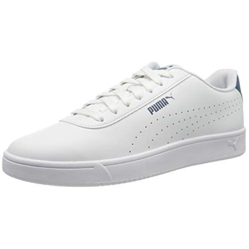 chollos oferta descuentos barato PUMA Court Pure Zapatillas Unisex Adulto Blanco White White Digi Blue 40 EU