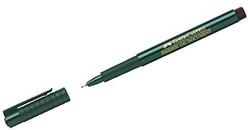 Faber-Castell 151199 - Faserschreiber Finepen 1511, 0.4 mm, schwarz