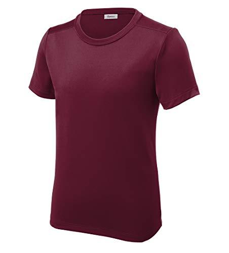 Opna Youth UPF 50+ UV Sun Protection Long or Short Sleeve Boys Girls T-Shirt Athletic Outdoor Cardinal ()