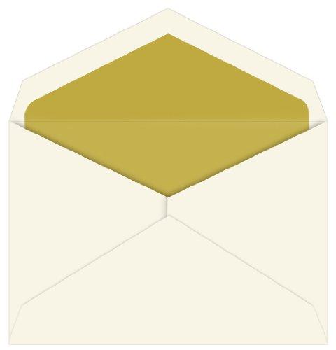 (Gold Lined Inner Ungummed Envelopes, Embassy Ecru, 25 Pack )