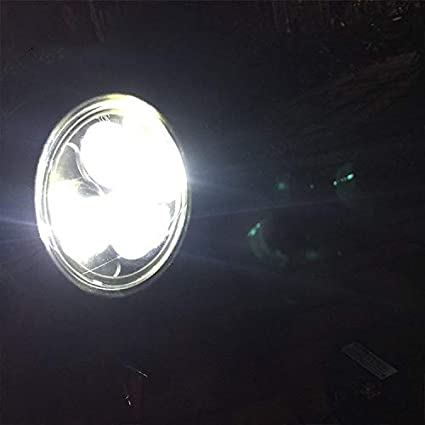 schwarz Motorrad Frontscheinwerfer Universal Metall Abblendlicht LED Lampe f/ür Honda Shadow 1100 ACE1100 750 Yamaha Suzuki Kawasaki