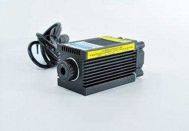 5V Focustable 405nm 500mw Ajustable Blue/Violet Laser Dot Module for Carving ()