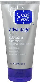 CLEAN & CLEAR ADVANTAGE 3-In-1 Exfoliating Cleanser 5 oz