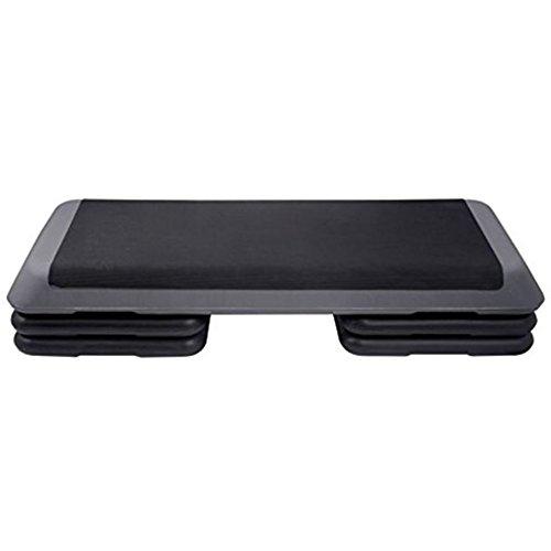 """KLB Sport 43"""" Adjustable Exercise Equipment Step Platform For Sports & Fitness(Black & Grey))"""