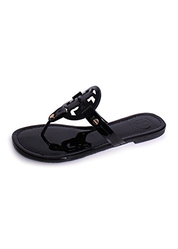 Tory Burch Women's Vachetta Leather Flat Thong Sandals - ...