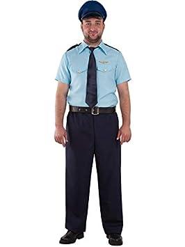 DISBACANAL Disfraz piloto de avión - Único, L: Amazon.es: Juguetes ...