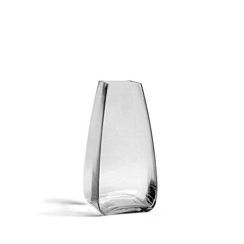 "Hosley's Orlo Glass Rose Vase, 11.5"" High x 5.5"" Square. ..."
