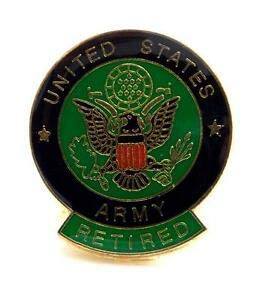 (Retired US Army Insignia Lapel Hat Pin Gift Military PPM028 by HighQ Store)