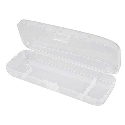 Gracefulvara White Transparent Shaving Box for Shaver Razor