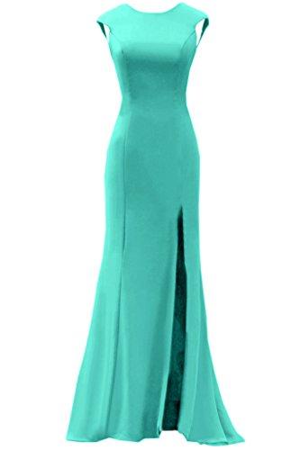 Festkleid Abendkleider Damen Chiffon Lang Promkleid Ivydressing Jaegergruen Rundkragen Schlitz Rueckenfrei tYxd8wa