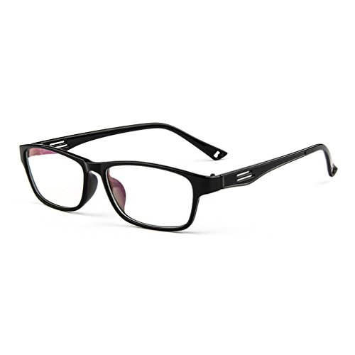 LOMOL Fashion Student Sport Style Transparent Lens Myopia Frame Glasses For - Fly Black Sunglasses Flys King