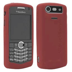 BlackBerry Rubberized Skin for 8100, 8110, 8120, and 8130 Pearl (Dark Red) Blackberry Pearl 8130 Stereo