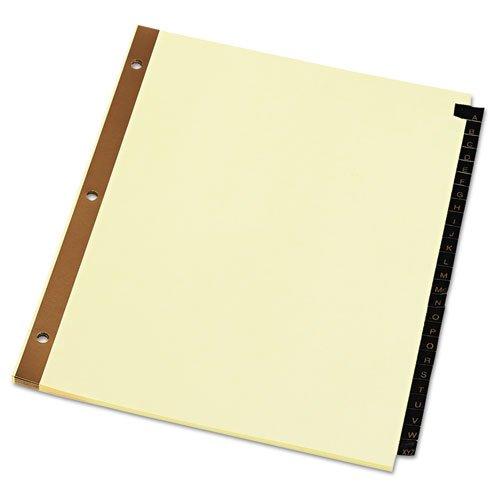 Universal 20821 Leather-Look Mylar Tab Dividers, 25 Alphabet UNV20821