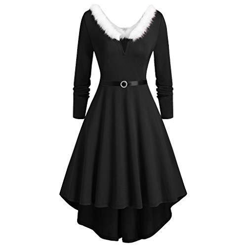 Womens Velvet Casual Short/Long Sleeve Peter Pan Collar Flare Skater Short Dress (David Meister Strapless Dress)