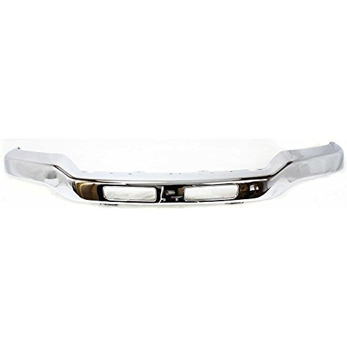 Bumper compatible with GMC Sierra 03-07 Front Bumper Chrome w/Fog Light Hole w/Bracket Old Body Style