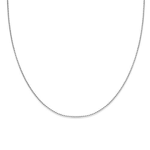 MILLA 925 Sterling Silver Baby Rolo Chain Necklace 18