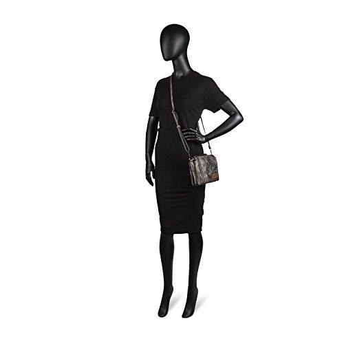 Metalizado Metalizado Color Pequeña Gris Gris Mujer Authentic Brand Bandolera Lois Para OwqAUPP