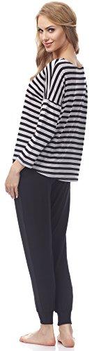 Merry Style Pijama para Mujer MSFX580 Negro/Melange
