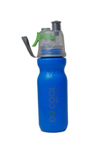 (O2COOL Mist N Sip 20 oz MISTING & Drinking Bottle - Blue)