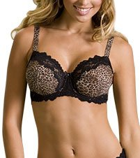 Lunaire Women's Plus-Size Barbados Shadow Stripe Underwire Bra – 34C, Nude Stripe