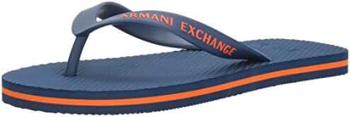 A|X Armani Exchange Men's Solid Flip Flop